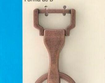 Dritz Large Swivel HOOK & D Ring - Copper