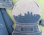 Cincinnati snow globe, warm wishes