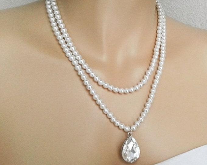 Swarovski Pearl bridal Necklace CHERYL