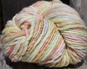 Handspun and dyed Falkland yarn. Next to skin soft. Appx,.4oz /140 yards. Aran Weight. F165