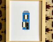 Spite House, Old Town, Old Town Alexandria, Alexandria, Virginia, northern virginia print, colonial architecture, art print, 8.5x11