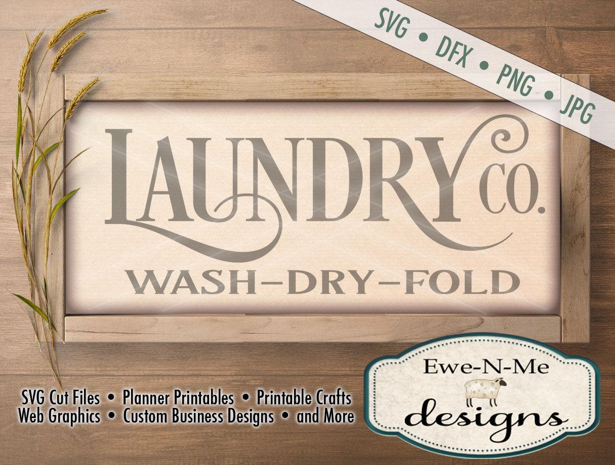 Laundry Co Svg Laundry Co Sign Svg Laundry Room Cut