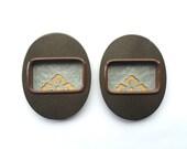 Japanese Door Pulls - Sliding Door Pulls - Pocket Door Pulls - Japanese Vintage Door Pulls Flower Set of 2 Gold Brown Silver (DP2L) L Size