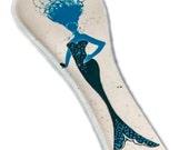 Mermaid Spoon Rest. Large Spoon Rest. Sea. Mermaid. Handmade by Sara Hunter