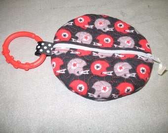 Paci Pouch - Paci Pod - Football Helmets- Pacifier clip - READY TO SHIP  - Pacifier holder - pacifier pod