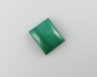 Malachite - Rectangle Cabochon, 11.30 cts - 12x14 (M125)