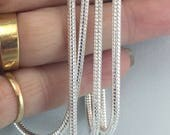 "28"" sterling silver chain, 2.5 mm sterling snake chain, pendant holder, sterling silver necklace,  Julie VanEmber, jewelry supply"