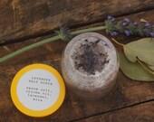 Lavender Salt Scrub in 30g Glass Jar