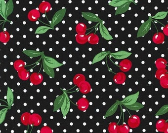 Michael Miller Cherry dot in black BTY