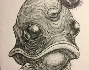 Portrait no. 550 original pencil drawing