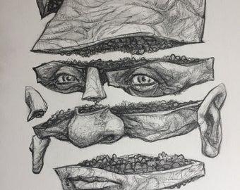 Portrait no. 551 original ink drawing