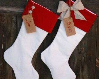 Personalized Christmas Stockings. Set of Velvet Christmas Stockings. Monogrammed Christmas stockings. Personalized Christmas Stockings