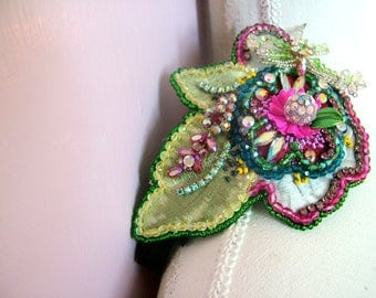 Embellished flower hairband - One of a kind - Ready to ship xx