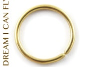 8mm 20g 14K Gold Seamless Hoops - Cartilage hoops / nose rings in 20 gauge solid 14K yellow, rose, or white gold
