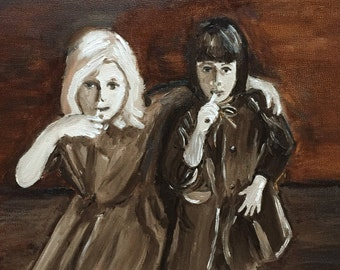 Lollipop Girls Original Oil Painting Daily Painting