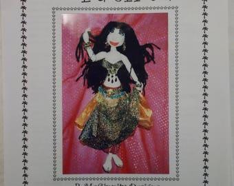 Soft Sculpture Doll Pattern, Belly Dancer Doll Pattern, Fatima Doll Pattern, R McGinnity Designs Australia