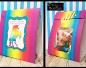 "Unicorn favor Bags,Unicorn candy bags,Bag wraps,Gumball Bags,unicorn favors,class treats,kids,children,Treat bags,size 4""W x4.5""H x2""D"
