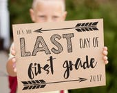 Last Day of School signs for 2017, arrow printable signs for the last day of school, instant download