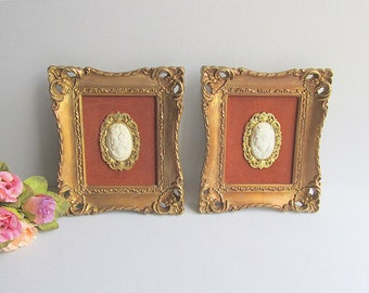 Vintage Wall Pictures, Ornate Frames, Victorian Wall Pictures, Shabby Cottage Chic Décor