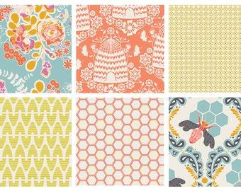 BUNDLE - Sweet as Honey - Art Gallery Fabrics - Bonnie Christine - Bees Flowers Garden