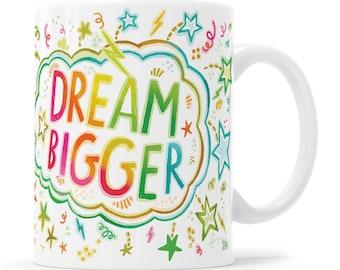 Inspiration Mug Positive Gift Courage Gift Boss Lady Inspiration Gift Motivation Mug Work Hard Dream Big Rainbow Mug Let's Do This Rainbow