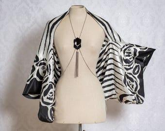 Satin Kimono sleeve Shrug