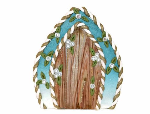 Items similar to garden beach wedding fairy door fairy for Fairy door wall art