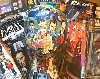 Lot of Comic Books for Crafting and Craft Projects Supplies Marvel Scrapbooking Mixed Media Art