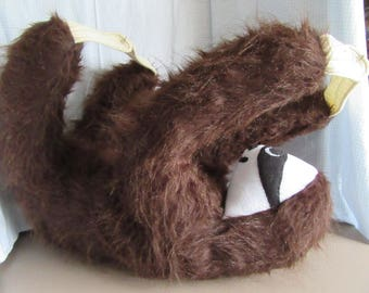 Three Toed Sloth LARGE Pattern for you to Sew......