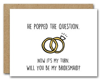 Will You Be My Bridesmaid Card, INSTANT DOWNLOAD, Bridal Party Card, Wedding Card, MOH Card, Bridesmaid Proposal Card, Printable