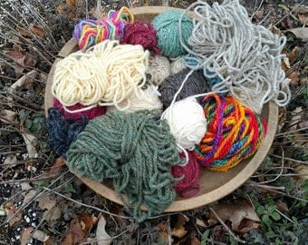 Collection of worsted yarn for crafting knitting rug making