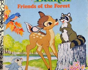 """Vintage Children's Book """"Walt Disney's Bambi Friends of the Forest"""" Little Golden Books   Reading for Children"""