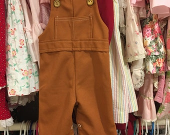 70s Overalls 6/9 Months