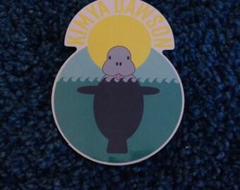 Kimya Dawson Manatee Sticker (designed by Aesop Rock)