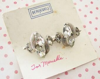 Midcentury Glam...Vintage Beau Jewels Rhinestone Brooch