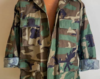 Standard Issue Camouflage Army Jacket - NOS