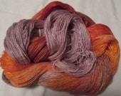Hand dyed Tencel Yarn - 6/2 Tencel Lace Wt. Yarn  CARROT CAKE - 630 yards