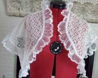 Bridal Bolero White Lace,short sleeve lace Wedding Jacket,Bridal shrug,Lace Shrug