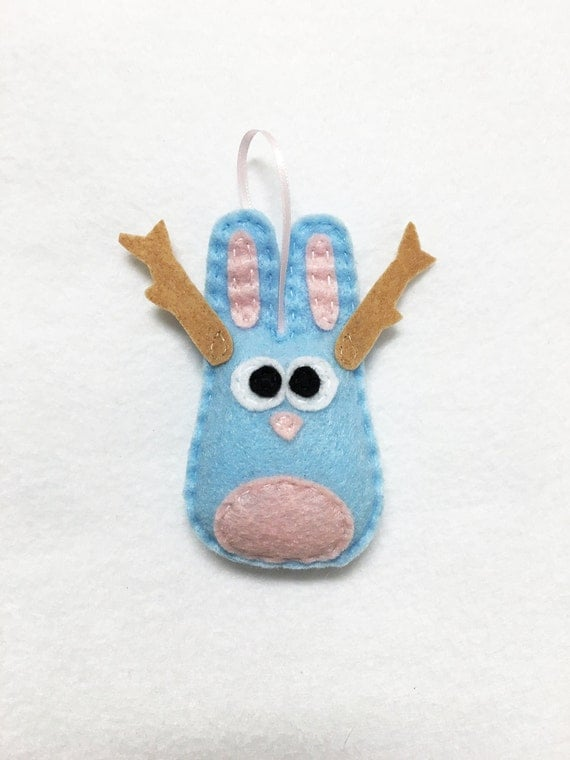 Jackalope Ornament, Christmas Ornament, Jared the Jackalope - Made to order, Taxidermy Ornament, Taxidermy Rabbit, Funky Decoration