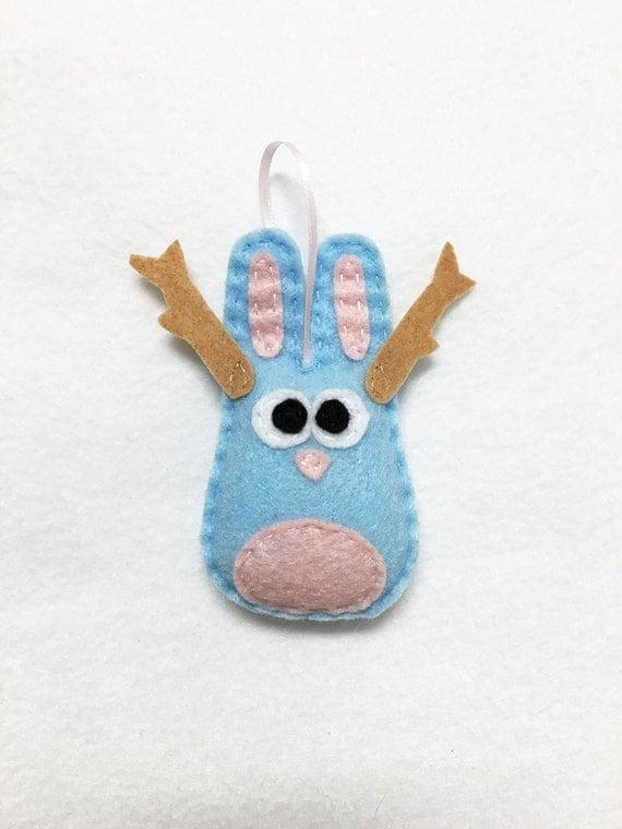 Jackalope Ornament, Christmas Ornament, Jared the Jackalope, Taxidermy Ornament, Taxidermy Rabbit, Funky Decoration