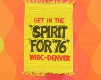 vintage 70s BOWLING towel 1976 wibc tournament denver colorado spirit 76 graphic bowler's brand new