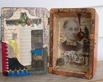 Shadow Box Altered Art Assemblage-Mother