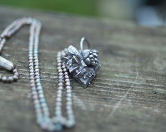 stories of the green and growing - cast sterling silver succulent necklace