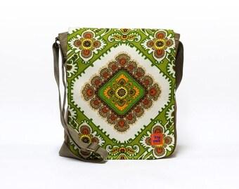 Shara - Vintage Fabric Upcycled Canvas Messenger Bag, crossbody bag, shoulder bag by EllaOsix