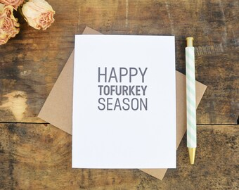 Letterpress Thanksgiving Card - Happy Tofurkey Season - HPS-143