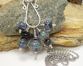 Lampwork Glass Bead Charm Necklace