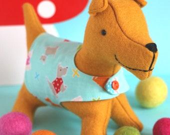 Spanner: Scottie dog PDF, dog softie pattern, dog sewing pattern, plush dog pattern,  felt dog pattern, PDF felt dog, easy dog pattern, dog