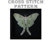 Luna Moth - .pdf Original Cross Stitch Pattern - Instant Download