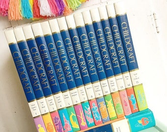 Reading Rainbow... Vintage Set of Childcraft Child Craft Books and Dictionary