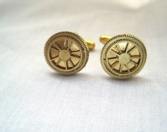 Handcrafted Antique Watch Gear cufflinks-unique-free shipping
